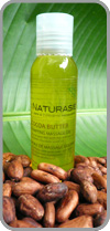 Massage oil with Bali organic cocoa butter
